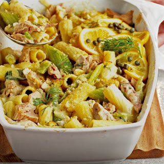 Skinny Tuna and Rigatoni Bake.