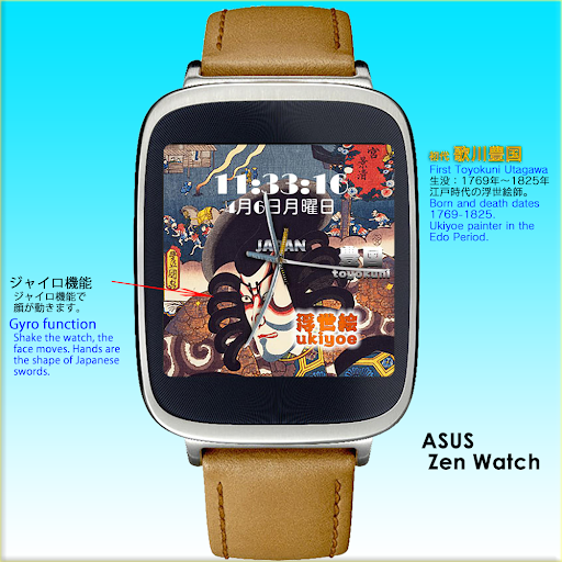 Ukiyoe Toyokuni 2 Watch Face