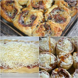 Prosciutto and Mozzarella Rolls