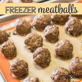 Homemade Frozen Meatballs.