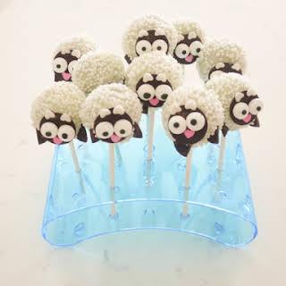 Baby Sheep Cake Pops.