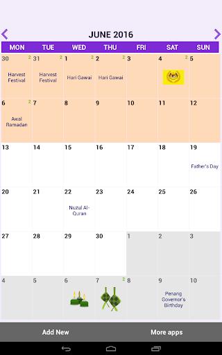 Malaysia Calendar 2018 1.41.63 screenshots 9