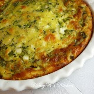 Broccoli Quiche.