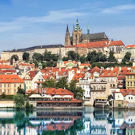 Prague Castle by John Goldenne - Instagram & Mobile iPhone ( water, iphoneography, castle, iphone, prague,  )