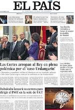 Photo: Rubalcaba lanzará su carrera para dirigir el PSOE en la sede de UGT, las Cortes arropan al Rey en plena polémica por el 'caso Urdangarin' y Ana Botella, nueva alcaldesa de Madrid son algunos de los temas de portada. http://www.elpais.com/static/misc/portada20111228.pdf