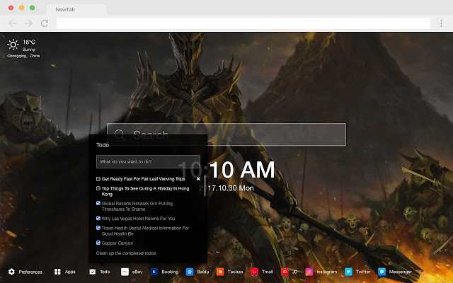 Lord of the Rings HD Pop New Tab Themes