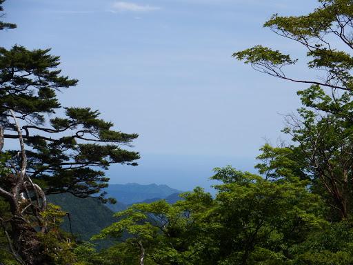 1362mピーク付近から熊野灘