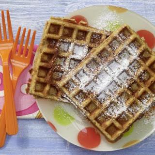 Nut Waffles with Honey