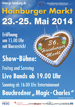 Photo: Plakat zum 36. Hainburger Markt vom 23-25.Mai 2014 - www.gv-hainburg.de/hm