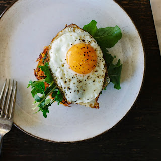 Spiced Sweet Potato Cakes With Crispy Fried Egg