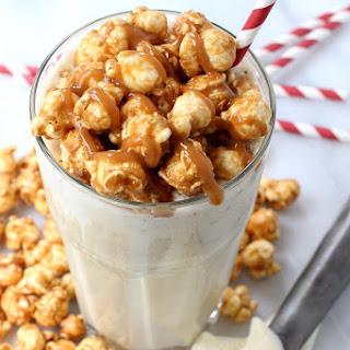 Boozy Caramel Corn Milkshake