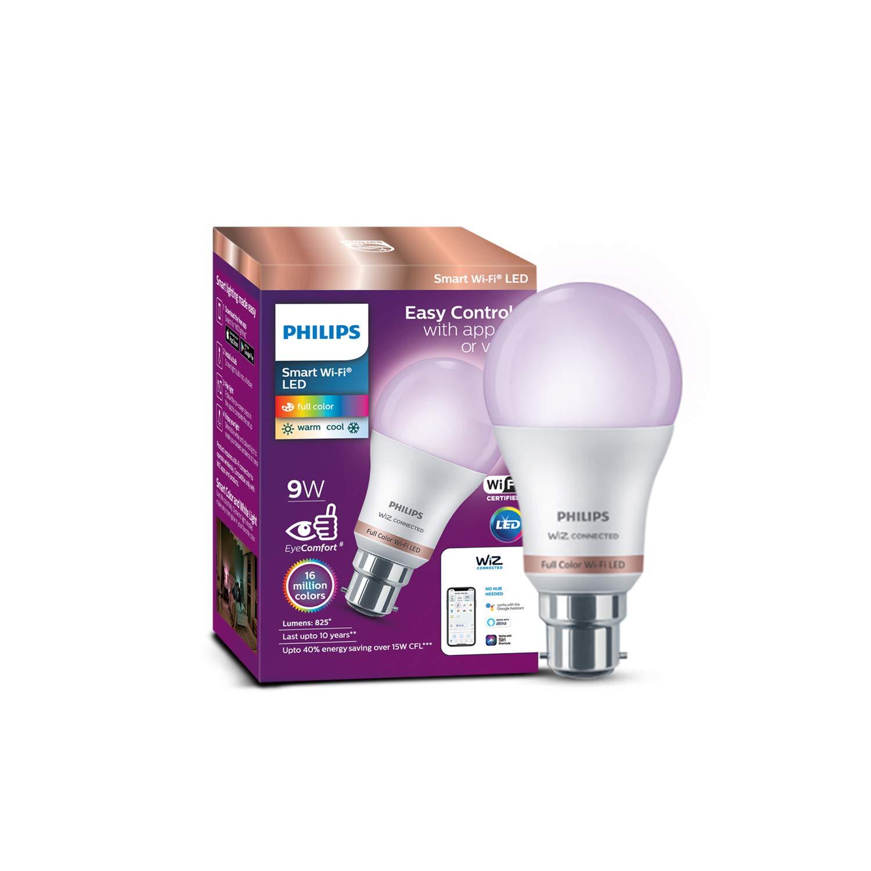 Philips Wi-Fi B22 9 Watt Smart  LED bulb