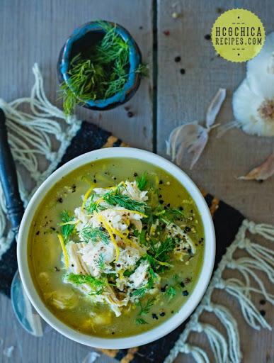Lemon Chicken Soup w/ Onions & Dill - SP/AP