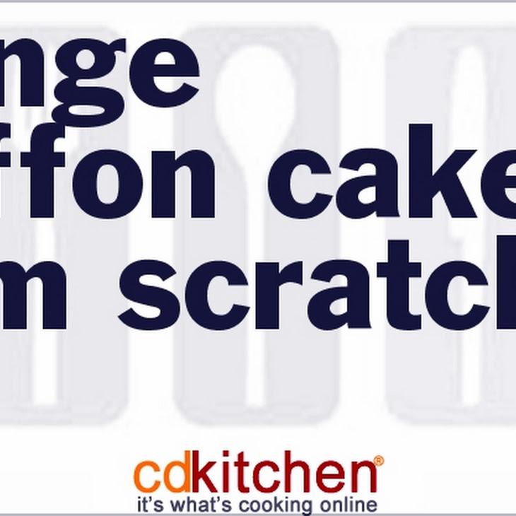 Orange Chiffon Cake From Scratch