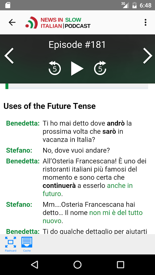 News in Slow Italian- screenshot