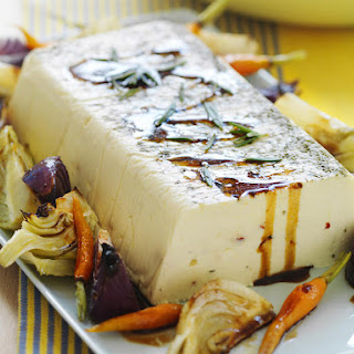 Rosemary-Baked Ricotta with Roasted Vegetables