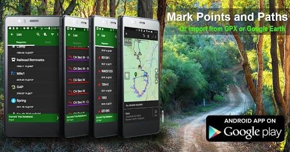 BackCountry Navigator TOPO GPS Screenshot