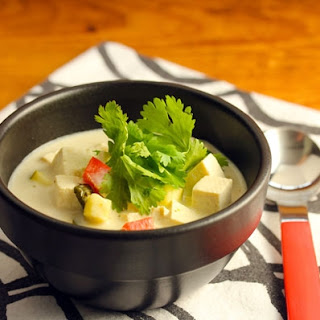 Thai Curry Coconut Soup With Tofu And Vegetables