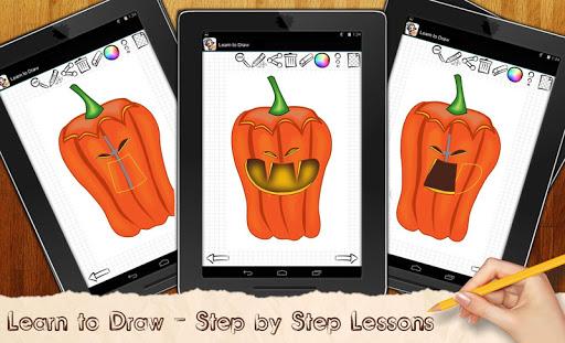 Draw Halloween Pumpkins