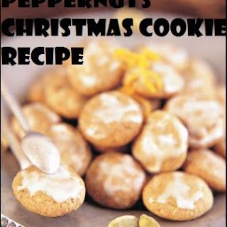 Peppernuts Christmas cookie