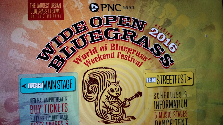 Logo for Wide Open Bluegrass Festival 2016-Largest Urban Bluegrass Festival in the World @ zpizza - Downtown Raleigh