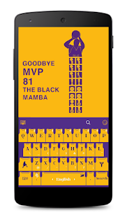 LA Basketball Kobe Keyboard - náhled