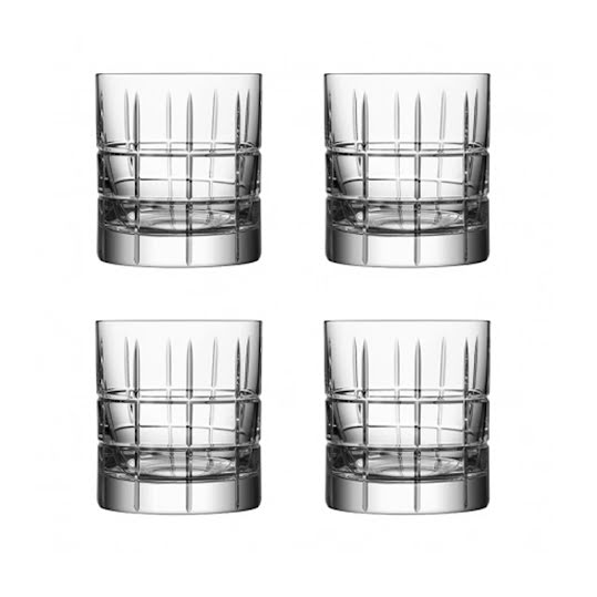 Orrefors Street Old Fashioned Whiskyglas 4-pack