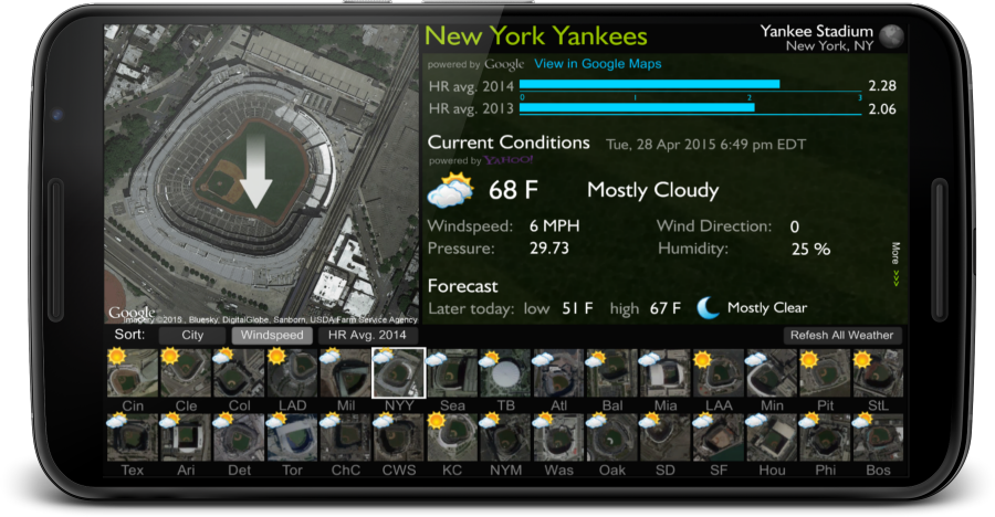 Ballpark Analyzer- screenshot