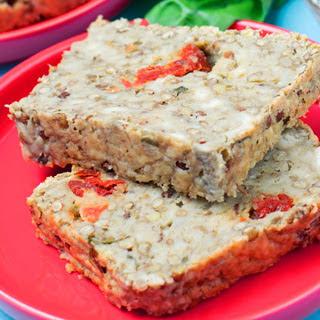 Lentil Meatloaf With Cashew Tzatziki [Vegan]