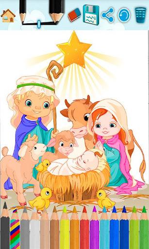 子供たちは聖書塗り絵を塗ります