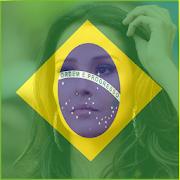 Brazil Flag Face Photo Maker