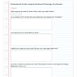International Teacher using Instructional Technology Questionaire