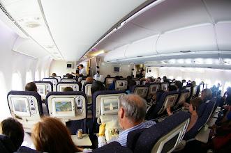 Photo: Cabine A380 Pont Inférieur Classe Eco