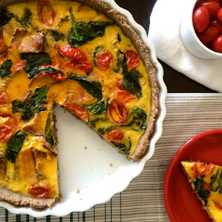 BACON, SPINACH and TOMATO QUICHE
