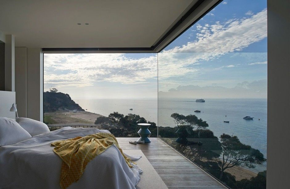 Bedroom Window Treatment Ideas with Open Space