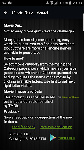 android Movie Quiz Screenshot 5