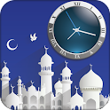 Prayer time and qibla compass icon
