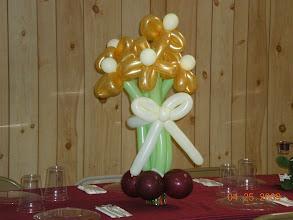 Photo: Balloon flowers...Church banquet...close-up