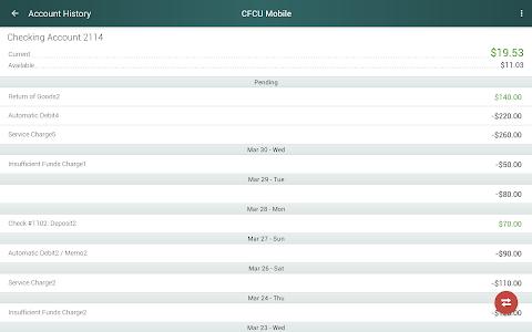 CFCU Mobile banking screenshot 6