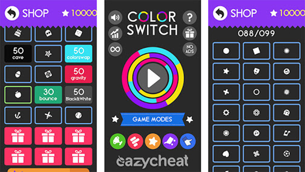 Trucchi Color Switch: Stelle infinite e tutte le Palline