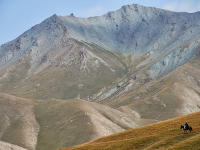 Photo: Kirgíz lovas, Lovas a Tien-sanban, Tien-san, kyrgyz horseman, Tien-shan