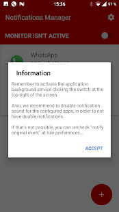 Notifications Manager Screenshot