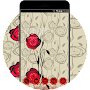 Red Rose Theme: Romantic Hand draw cool Wallpaper APK icon