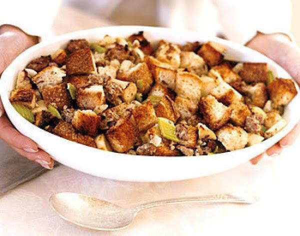 Fresh Sage, Apple, Sausage & Parsnip Stuffing Recipe