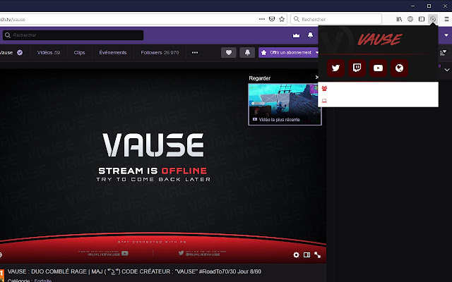 Vause Live Extension