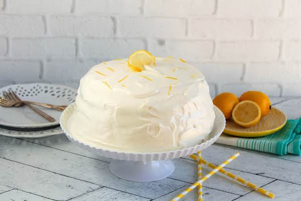 Refreshing Lemon Icebox Cake Ready To Be Sliced.