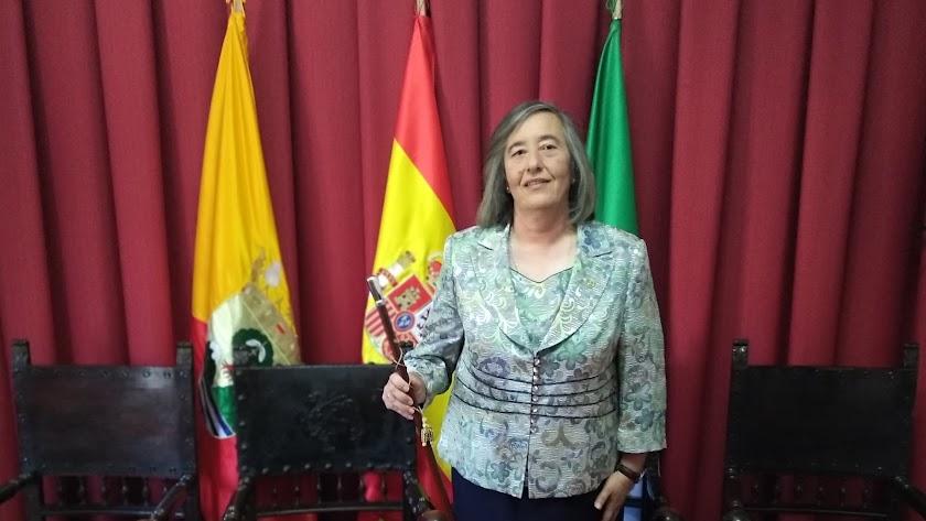Herminia Uroz, alcaldesa de Nacimiento.
