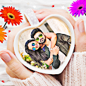 Coffee cup photo frames editor icon
