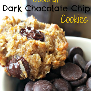 Gluten Free Coconut Dark Chocolate Chip Cookies