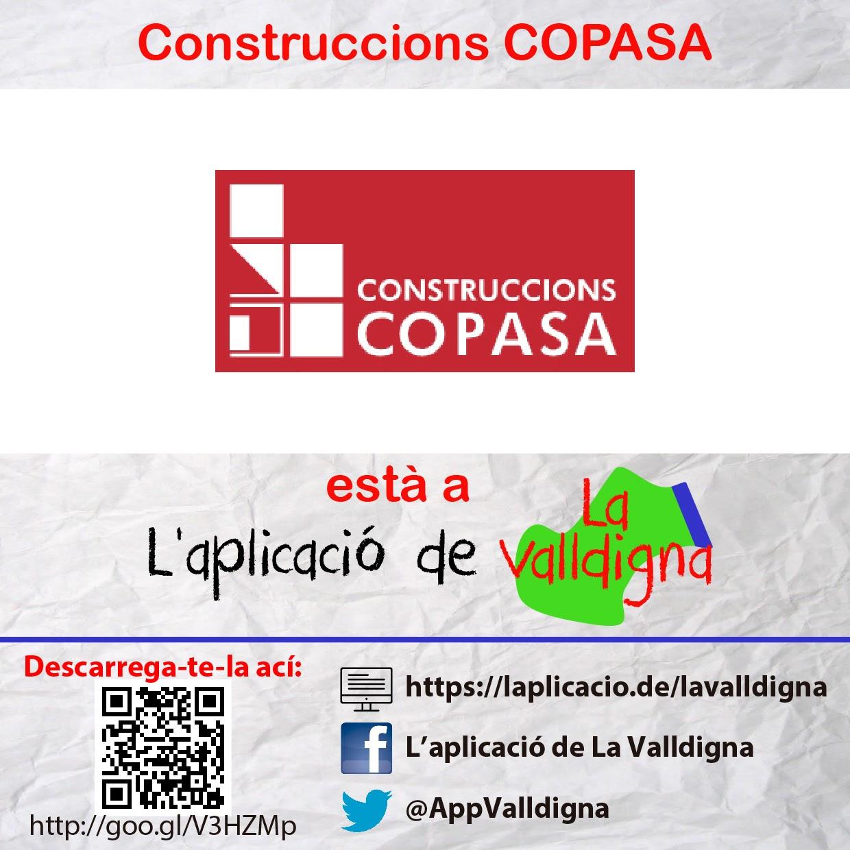 Construccions COPASA està a L'aplicació de La Valldigna